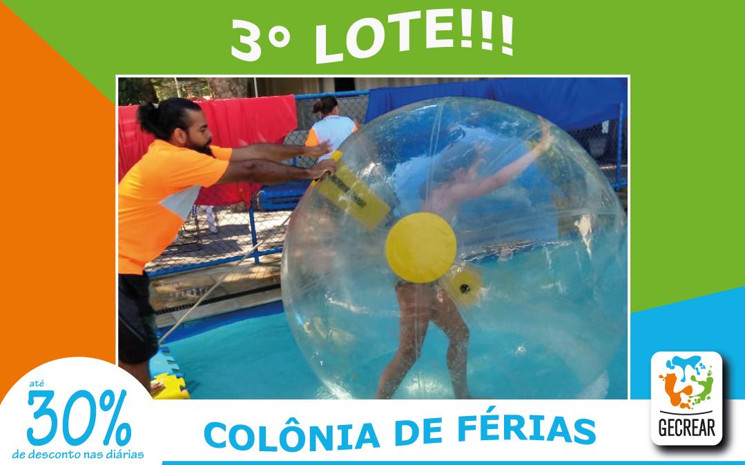 Aproveite o 3° lote da colônia de férias GECREAR!